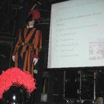 Unser vollends geglückter Auftritt im prächtigen großen Saal der Safran-Zunft
