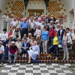 Die Sparkassen-Senioren auf der Mathildenhöhe (Foto: Erich Hohn)