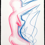 Movement #5 chalk pastel