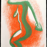 Movement #3 chalk pastel