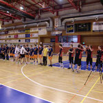 Aufstellung vor dem Endspiel gegen Bettendorf/Luxemburg