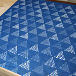 "indigo dye handkerchief ""fish scales"" - ¥1404"