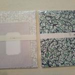 marble paper letter set (¥680)