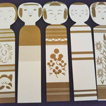 set of 5 kokeshi postcards - ¥486