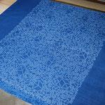 "indigo dye scarf ""cubes"" - ¥2268"