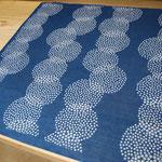 "indigo dye handkerchief ""overlapping circles"" - ¥1404"