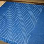 "indigo dye scarf ""flower waves"" - ¥2268"