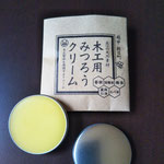 bee wax cream for wooden products care 10g (¥378) or 40g (¥1188) from Toyama pref.