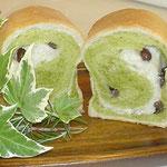 抹茶のくるくるミニ食パン
