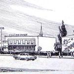 «Яготин, центр», 1978, линогравюра