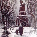 «Памятник Т.Г. Шевченко», линогравюра