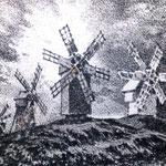 «Ветряки», линогравюра