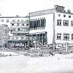 «Яготин, Каштановая аллея», 1978, линогравюра