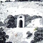 «Пещеры», 1978, линогравюра