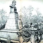 «Возложение цветов к памятнику Т.Г. Шевчено», линогравюра