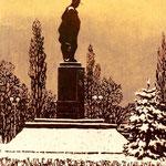 «Памятник Шевченко в Киеве», линогравюра - государственный исторический музей, г. Яготин, Украина