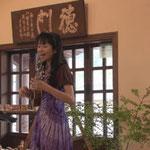 近江八幡 白雲館 蜂谷清香 手描き「絵ことば」&音楽の世界展にて