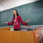 滋賀県立大学 英会話講座にて 講演