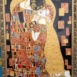 """""""Поцелуй"""" (по картине Густава Климта). Размер 30х40 см."""