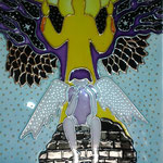 Ангел (по картине Ирен Роздобудько). Размер 18х24 см.