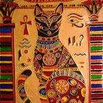 Египетская кошка. Размер 21х30 см.