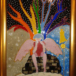 Ангел (по мотивам картин Ирен Роздобудько). Размер 18х24 см.