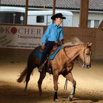 Andrin Kälin mit seinem QH Wallach Cal Me Silver Jack im Youth Reining