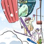 イラスト「スキー」