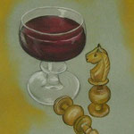 Schach (Pastellkreide)