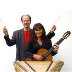 Rudi Zapf (Hackbrett), Ingrid Westermeier (Gitarre)