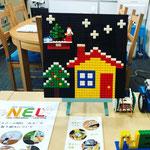 ICTスクールNEL,クリスマスプレート,レゴブロック,