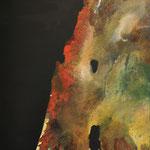 Remote Sensing: Israel, 95 x 135, gouache en potlood op linnen