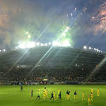 Feuerwerk zur Stadioneinweihung