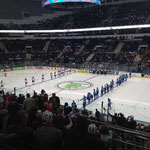 Beide Teams vor dem Spiel Deutschland gegen Finnland