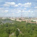...aus dem man einen überragenden Überblick auf ganz Minsk hat!