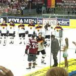 Beste Spieler des Spiels: Mikelis Redlihs (LET) und Frank Hördler (D)