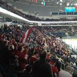 Nach nur etwas mehr als einer Minute jubelten die lettischen Fans bereits über das 1-0...