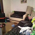 Das Wohnzimmer unseres Appartments