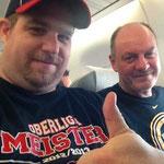 PaP und ich im Flieger
