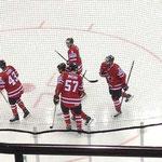 kanadischer Jubel nach der Führung von Cody Hodgson (Buffalo Sabres)