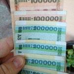 Ein Besuch am Geldautomaten und ruckzuck war man Millionär (ca. 72 Euro)