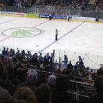Finnischer Jubel nach dem 1-0 von Petri Kontiola
