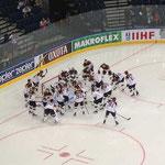 Das deutsche Team vor dem ersten WM-Spiel gegen Kasachstan