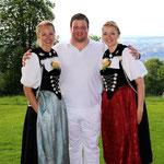 mit Freundin Bettina und Hobbyschwägerin Corinne (Bild: Kilian Schneiter)