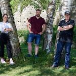 mit Reto Baumgartner, Inhaber RB Baumgartner AG, und Lea Bosshard, Karateka