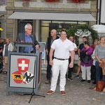 mit Fritz Affolter, Gemeindepräsident Aarberg