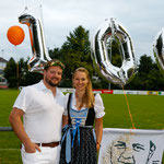 Mit meiner Frau Bettina am Empfang vom 24. August (Bild: Barbara Loosli)