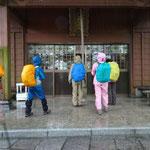 5月26日12:30 雨の中土小屋を出発