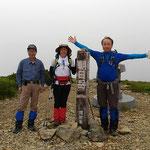 朝日岳山頂(海抜2,416m)・13:30