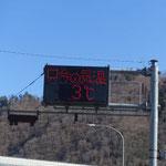外気温は3度